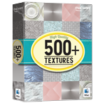 500+ Textures - box