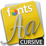 macFonts Cursive icon